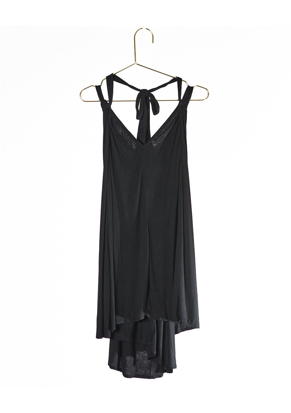 WRAP N DRAPR DRESS - BLACK