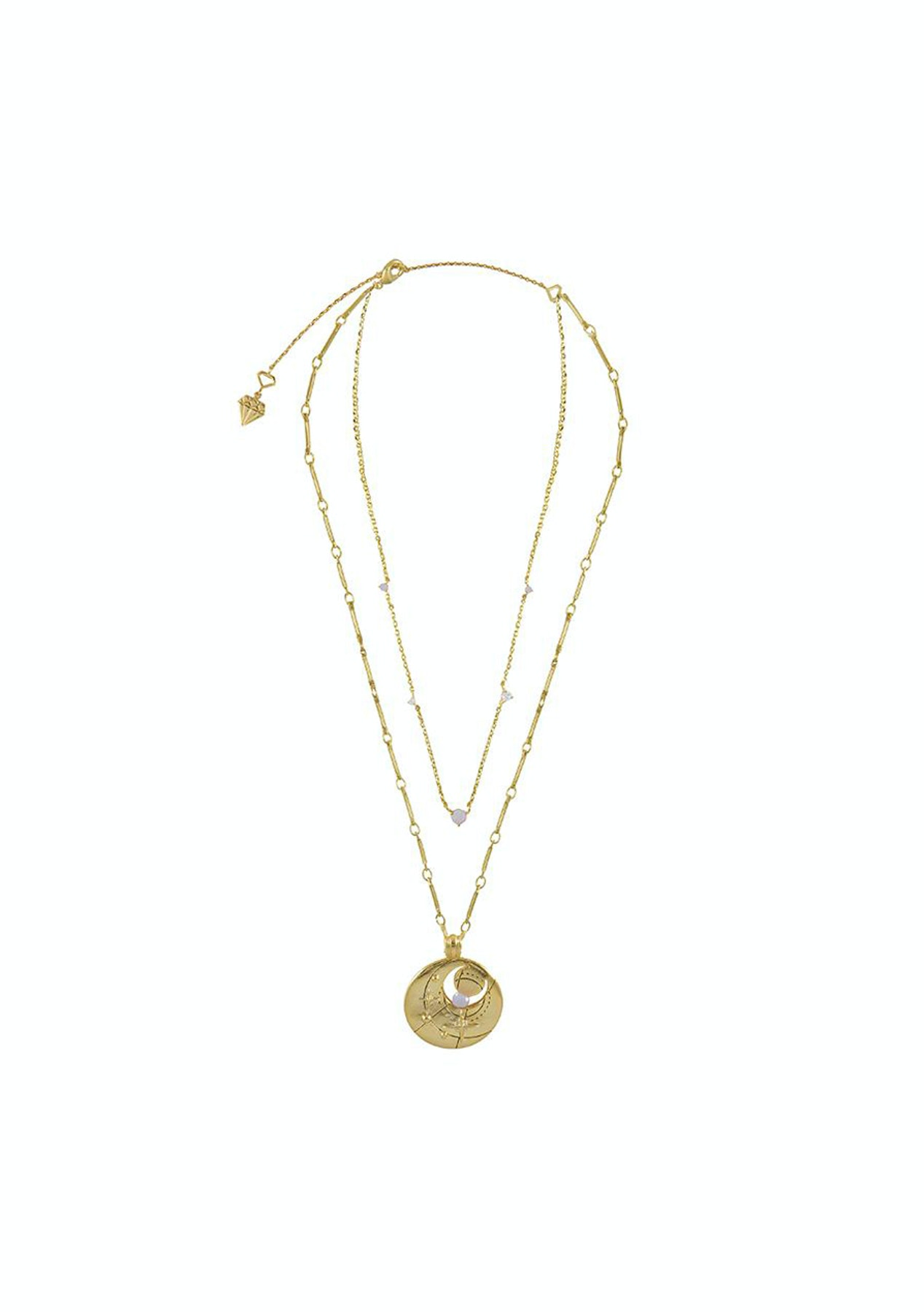 479411309e49d Wanderlust + Co - October Birthstone Gold Necklace