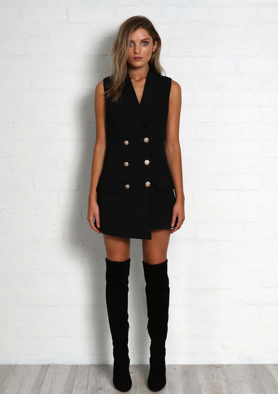 Madison - KENDAL VEST DRESS - BLACK