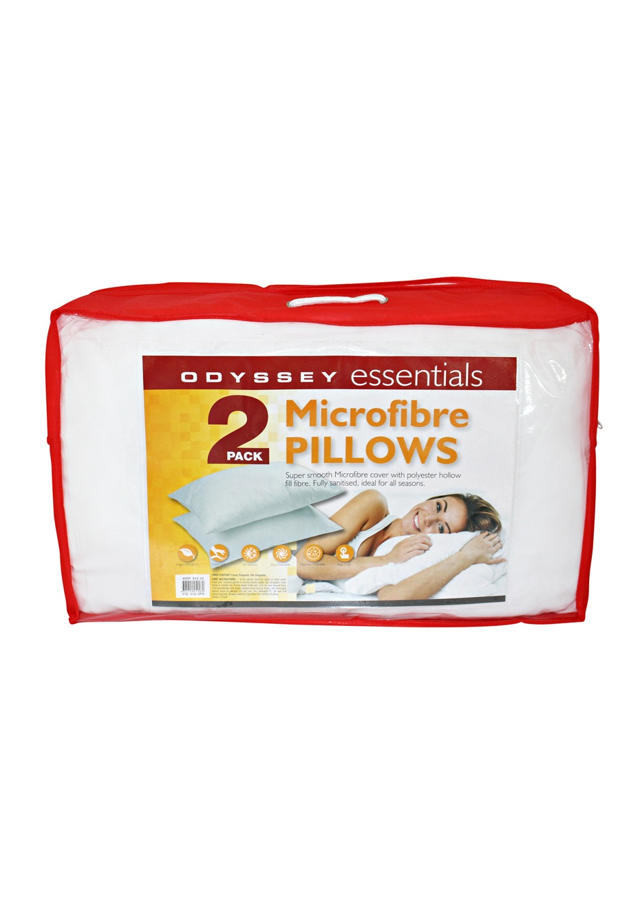 2 Pack Pillow - Polyester - 450 GMS with Poly Cover