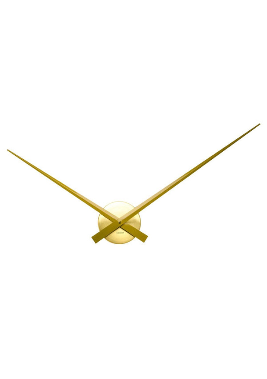 Karlsson - Wall Clock 'Little Big Time' - Gold/Brass