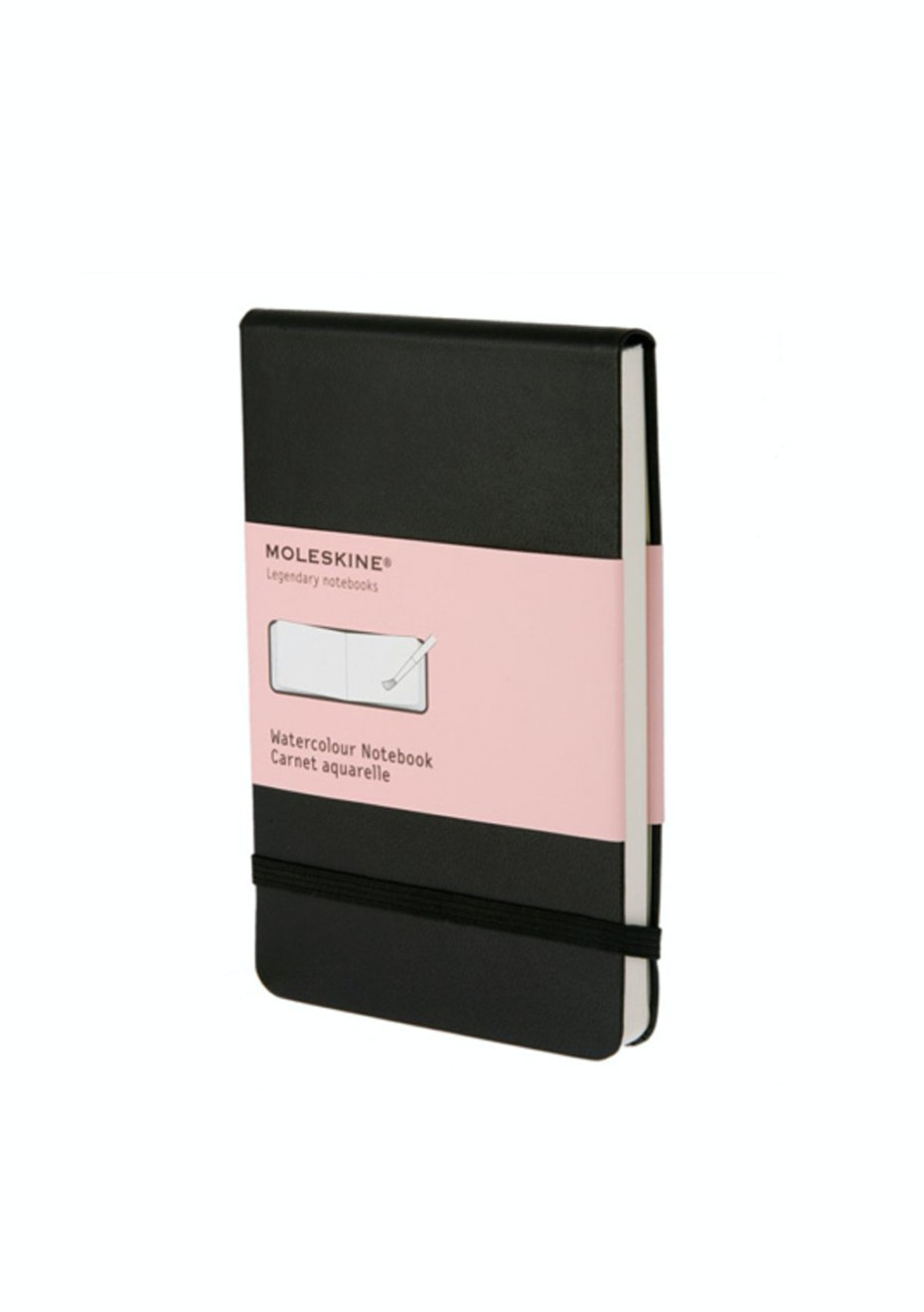 Moleskine - Watercolour Hard Cover Notebook - Plain - Pocket - Black