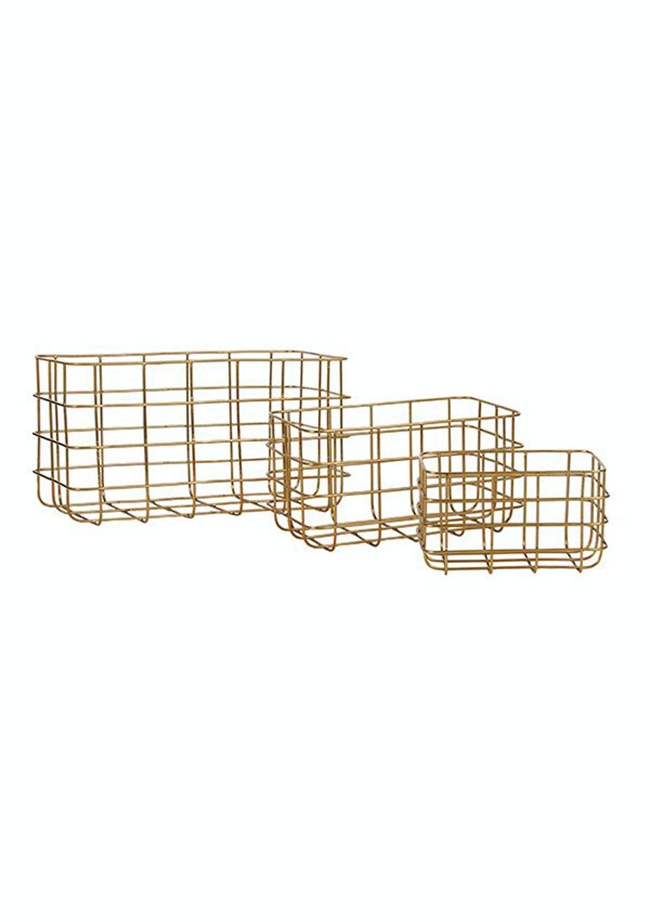 General Eclectic - Minimal Basket Brass - Set of 3
