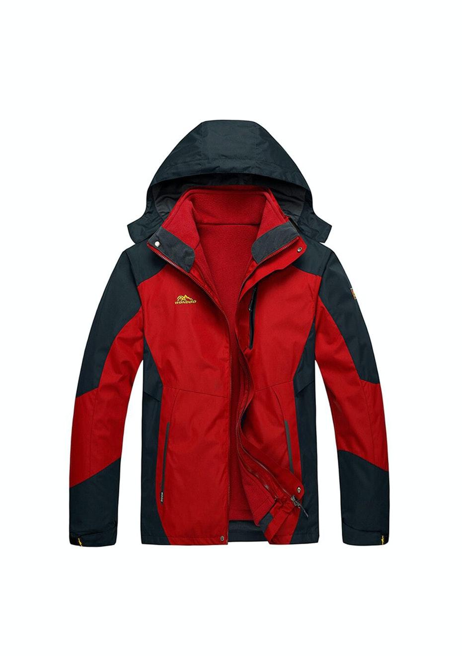 Men 2-in-1 WaterProof Jackets - Red