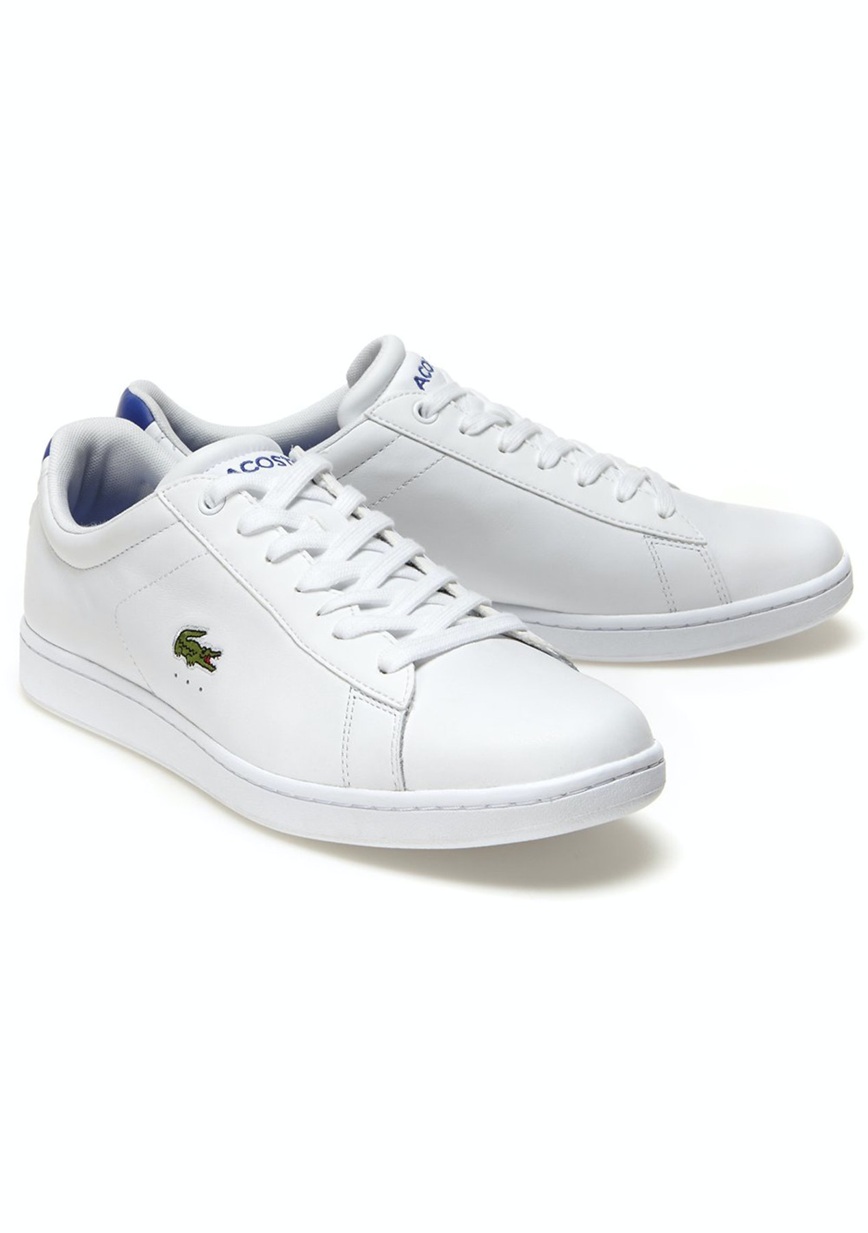 9a1d103dc35cc Mens Lacoste - Carnaby Evo S216 2 Spm - White Blue - Lacoste 24 Hours -  Onceit