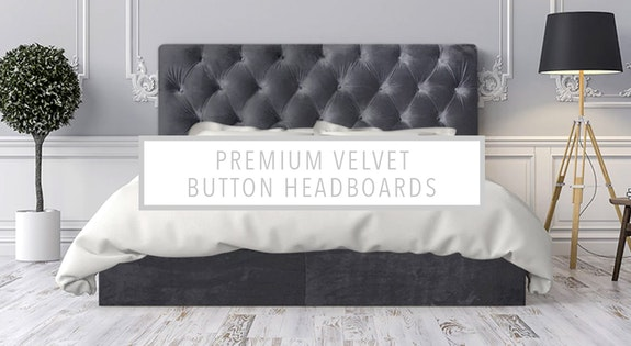 Premium Velvet Button Headboards