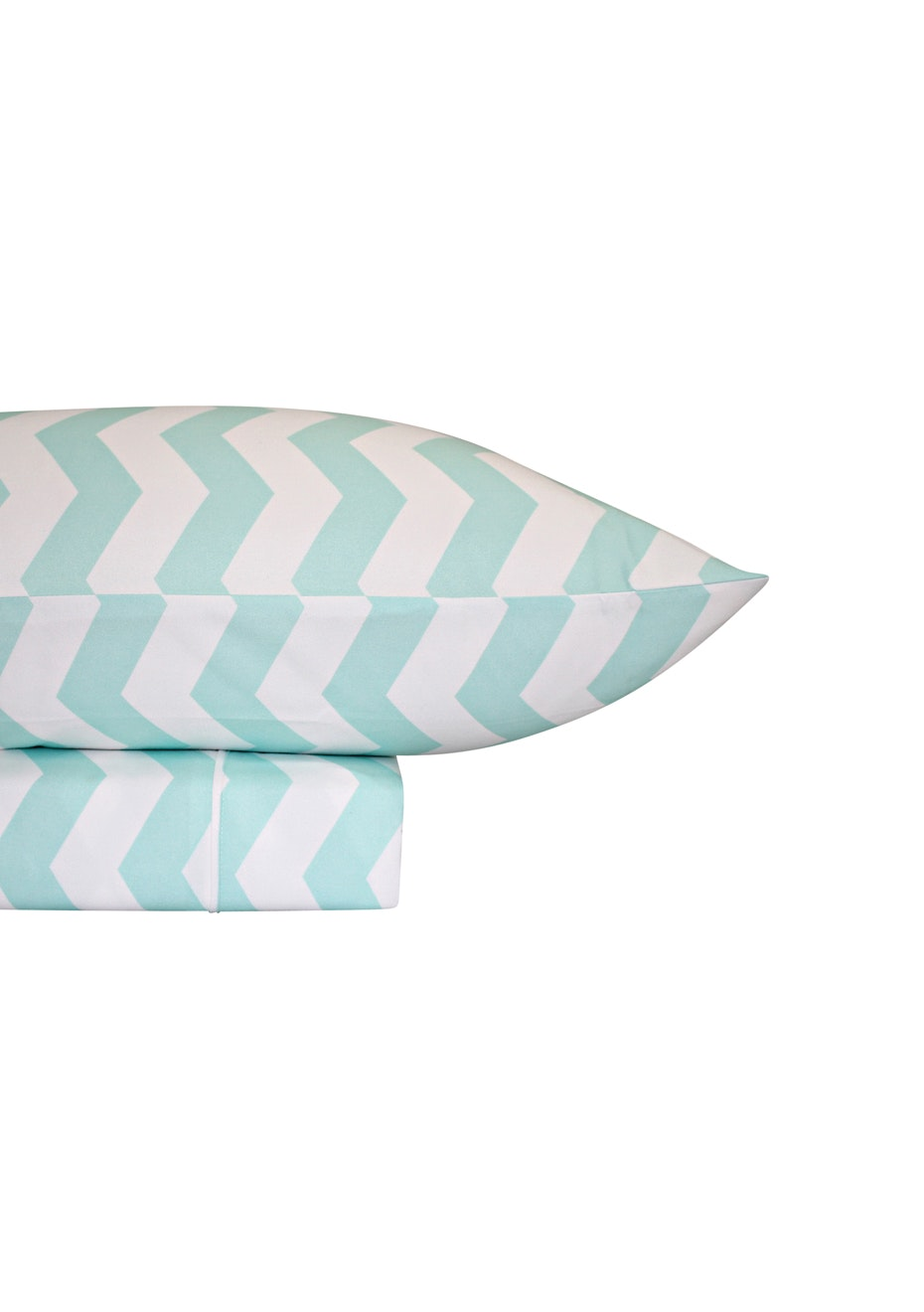 Thermal Flannel Sheet Sets - Chevron Design - Ice - Single Bed