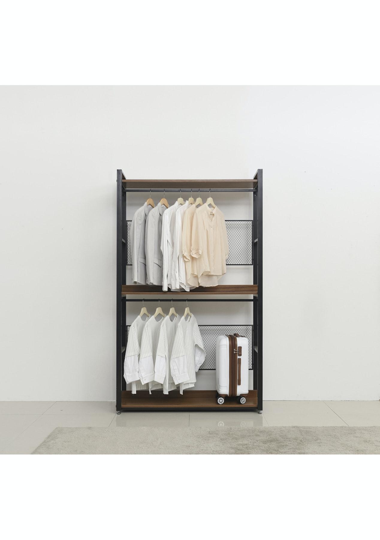 1200mm 3 shelf storage unit walnut affordable contemporary furniture onceit