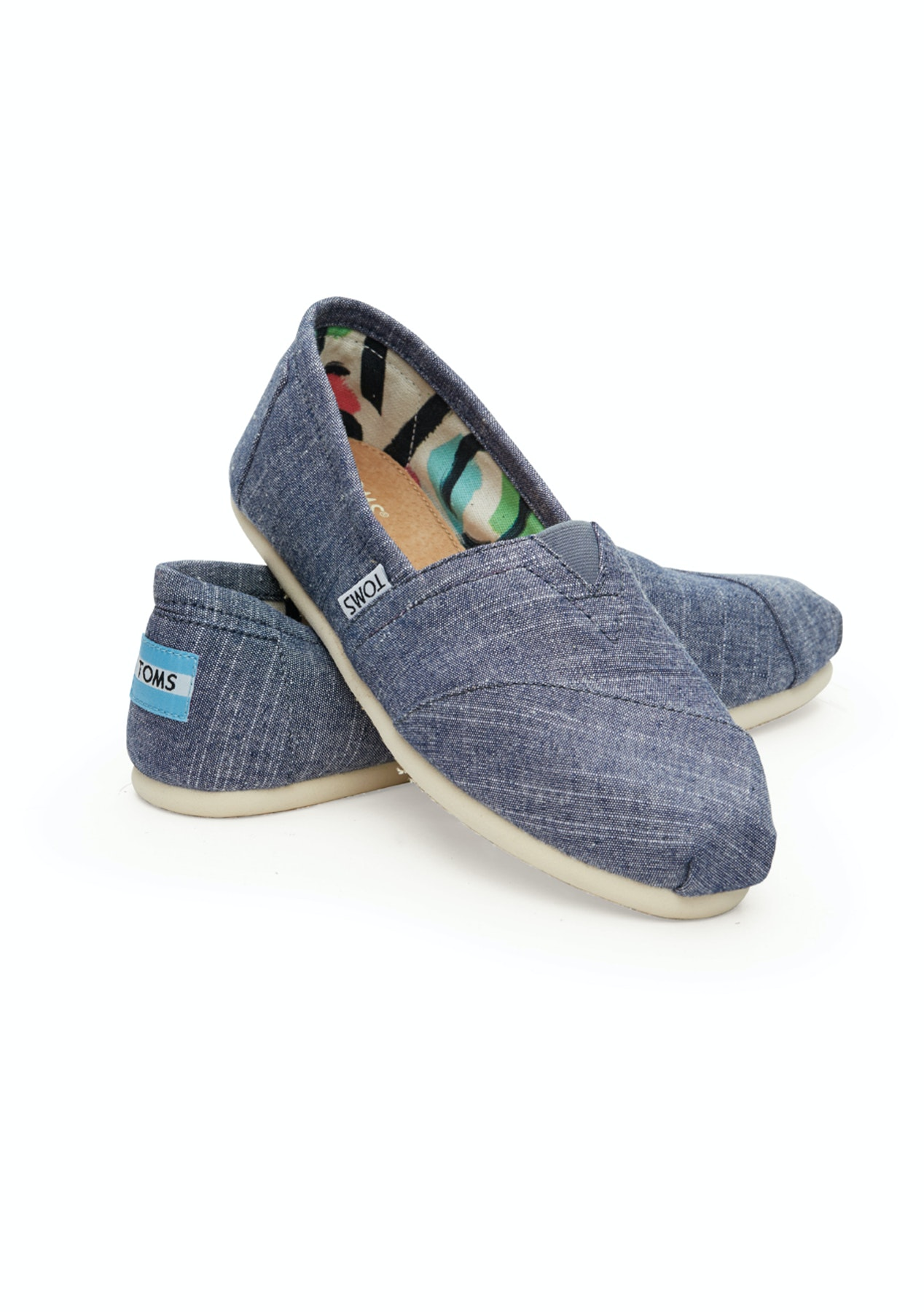 24cdbe231 Toms - Alpargata - Blue Chambray - Shoes Outlet - Onceit