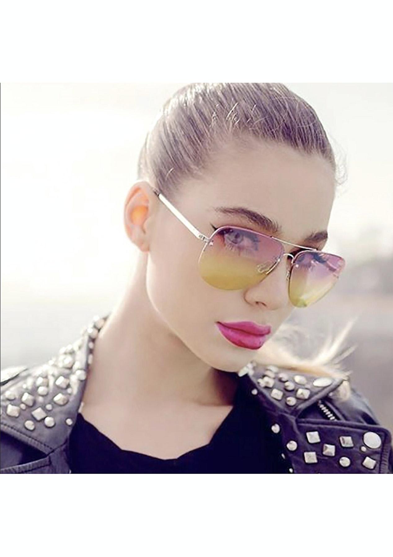 83f549018b423 Quay Muse Fade Silver Pink Yellow Fade - Sass   Bide + MORE Eyewear ...