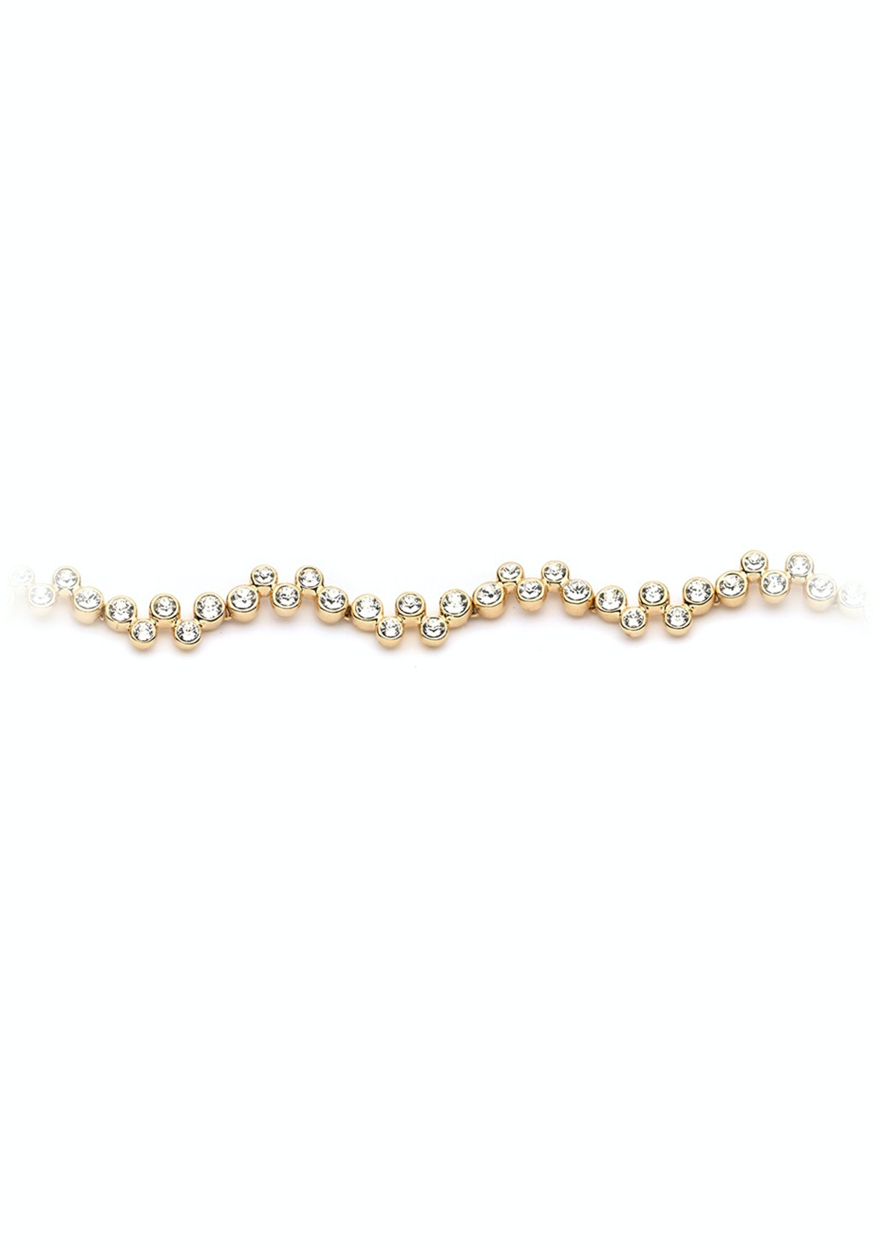 b22bb62ce7247 Myjs Fidelity Bracelet Made With Clear Swarovski Crystals 16K Gold Plated