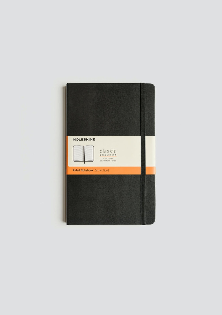 Moleskine - Classic Hard Cover Notebook - Ruled - Large - Black