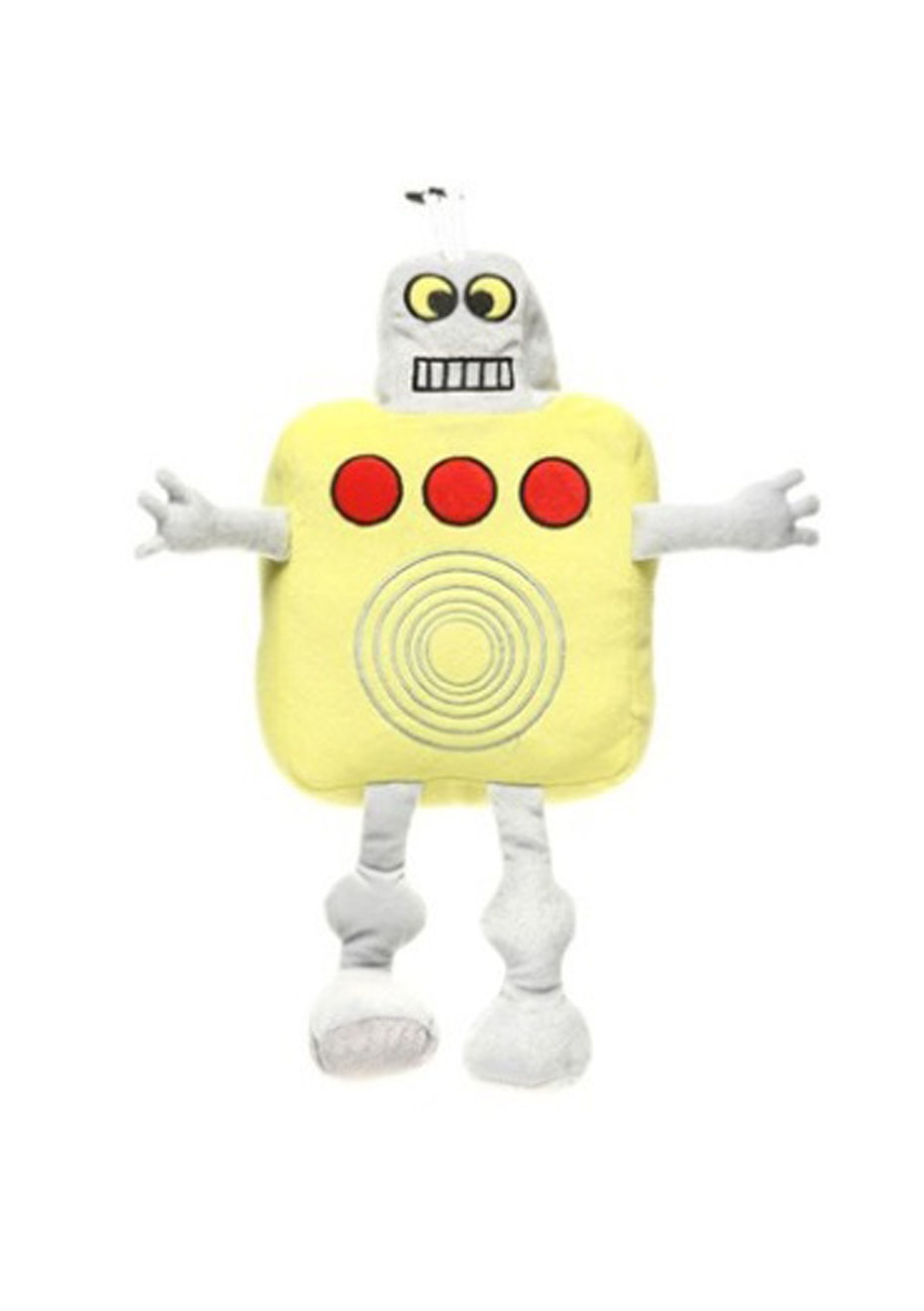 Yellow Robot Cushion