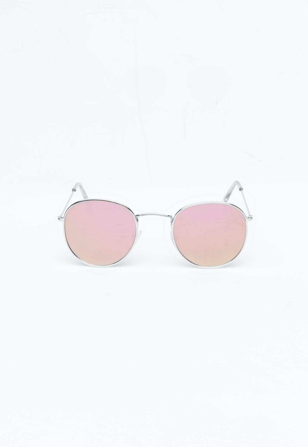 Retro Round - Silver Frame/ Pink