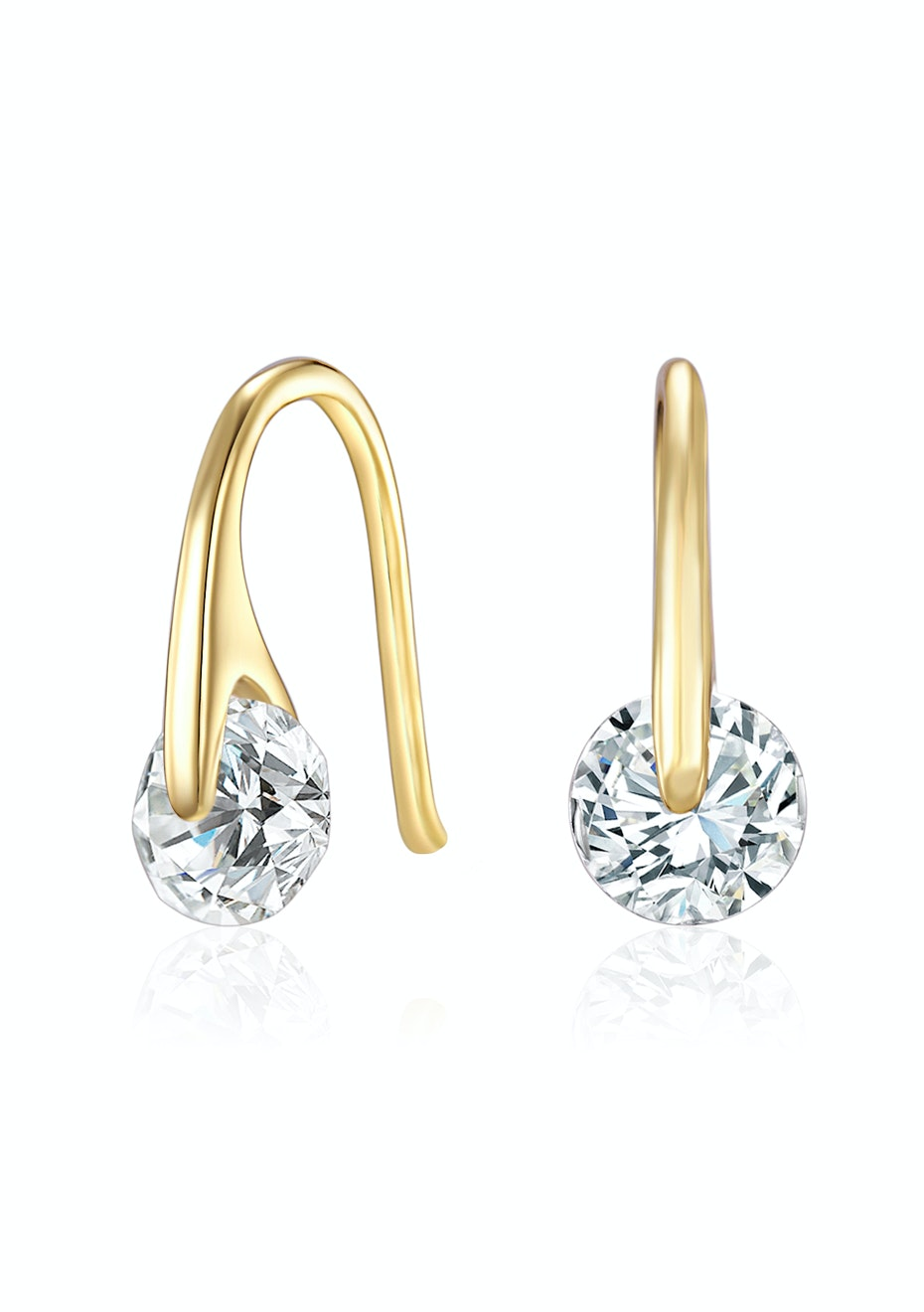 Earrings Embellished with Crystals from Swarovski -G
