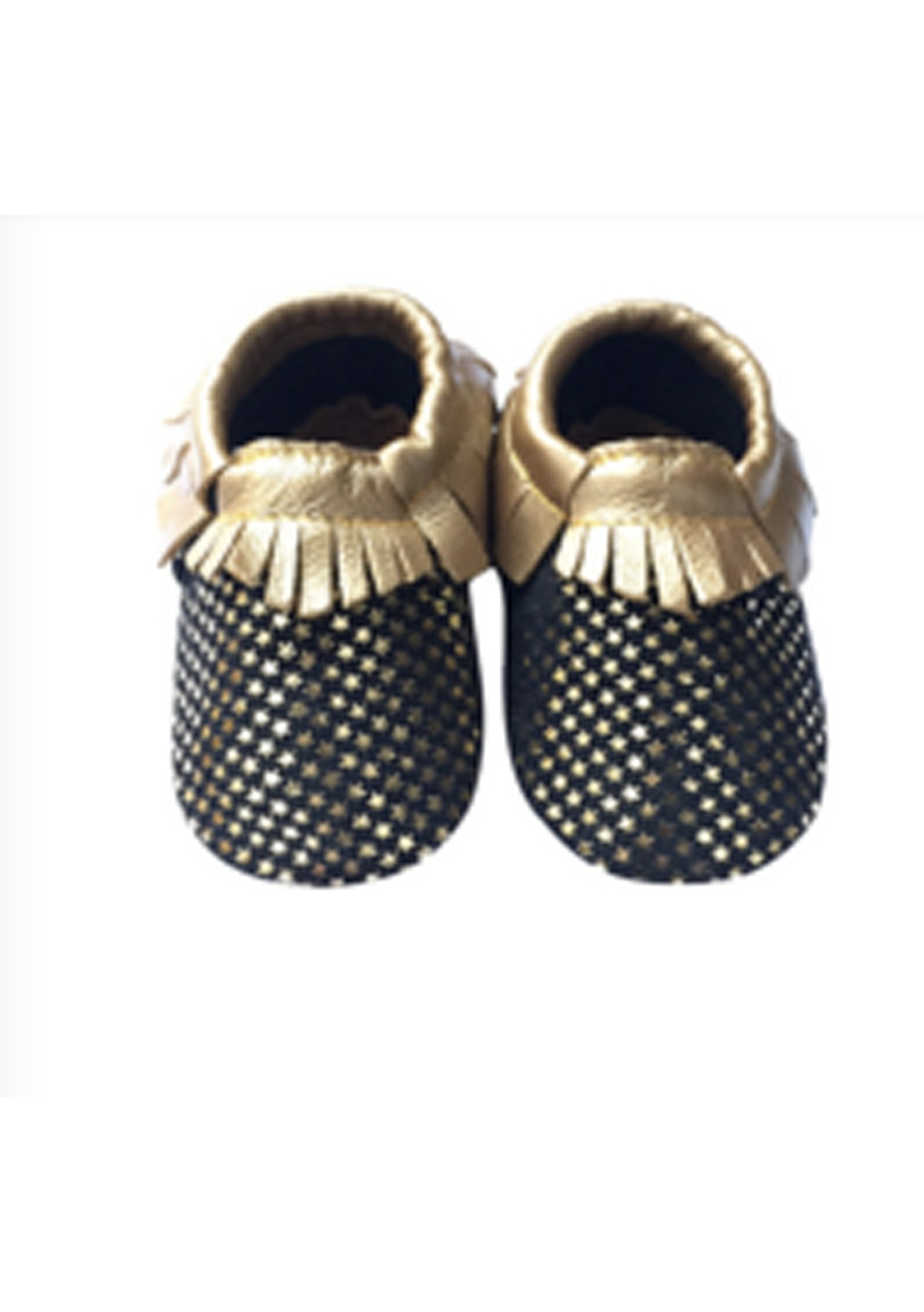 Baby  Leather Shoes - Gold/Black