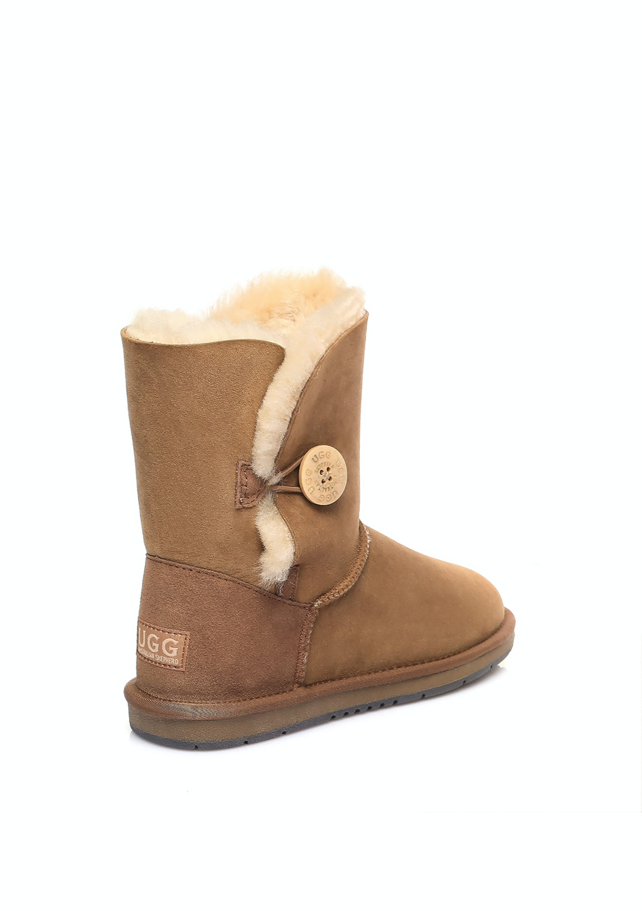 b39c42943d Australian Shepherd Uggs - Short button Water Resistant - Chestnut - Ever  Uggs - Onceit