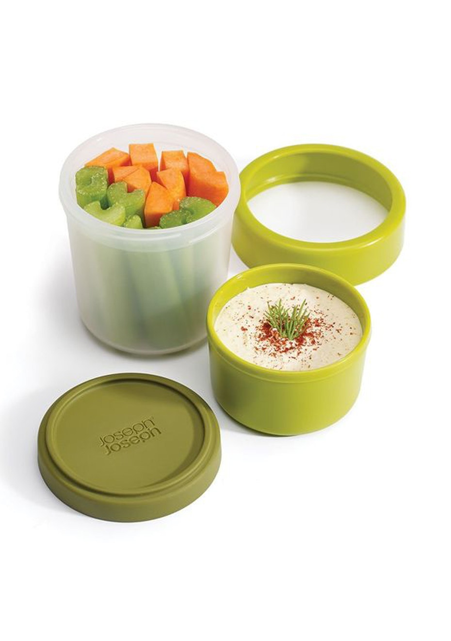 Joseph Joseph - GoEat Compact 2-in-1 snack pot - Green