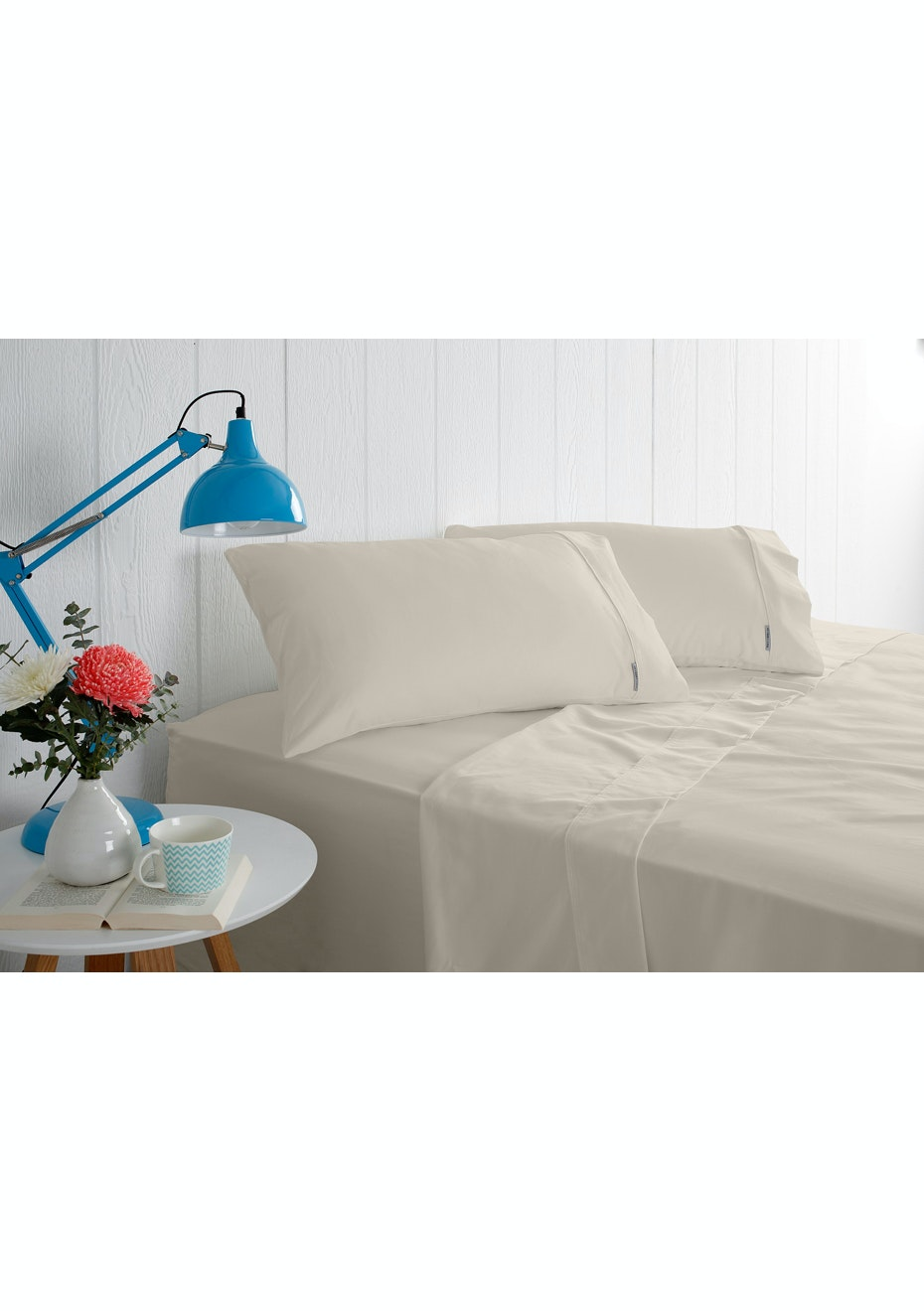 Odyssey Living 1000 Thread Count - Cotton Rich Solid Sateen - Linen - Queen Bed