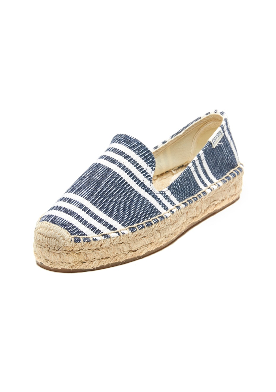 Soludos - Platform Smoking Slipper Stripe - Navy/White