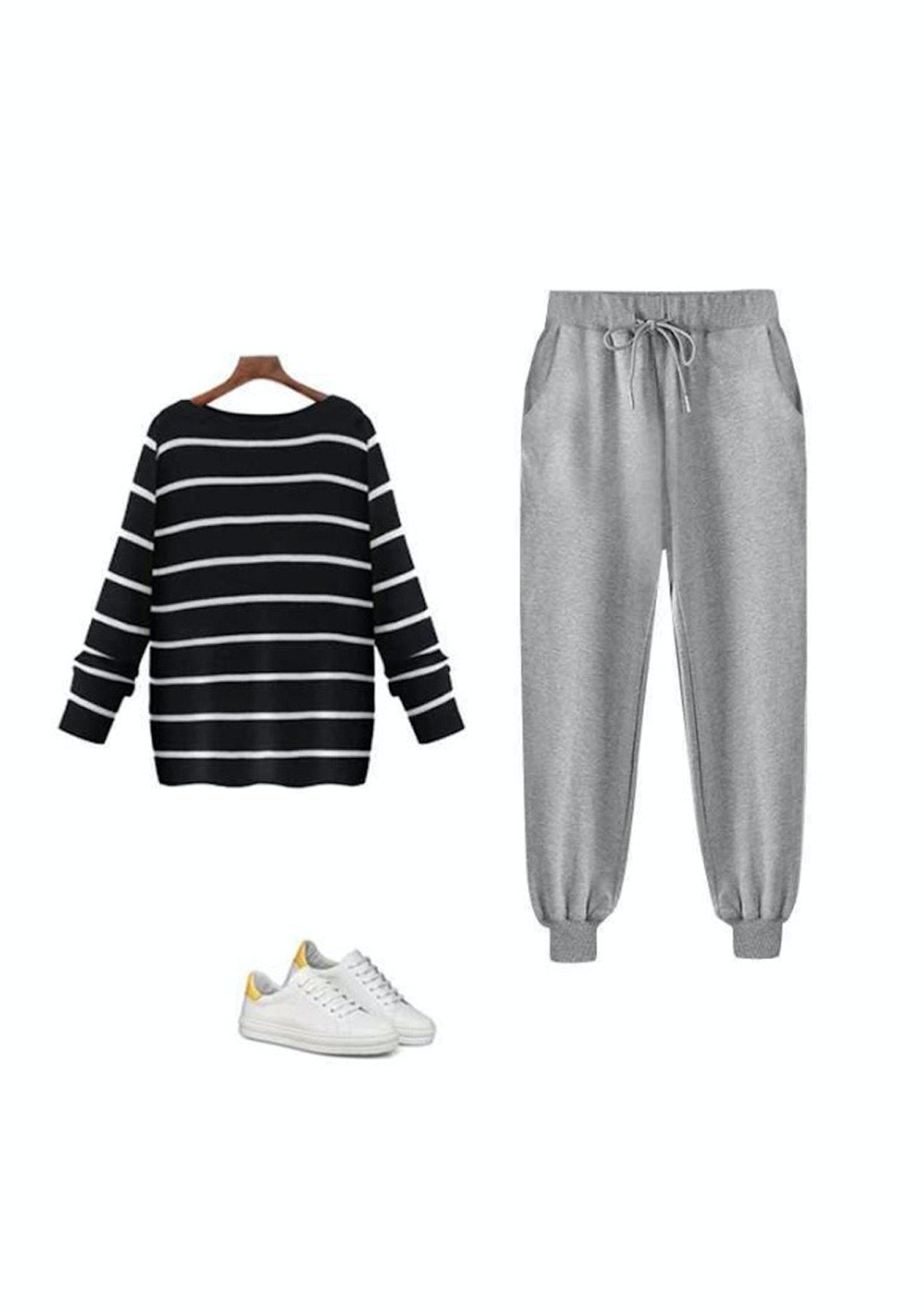 Fashion Edit  - Mono Leisure Pant - Marle Grey