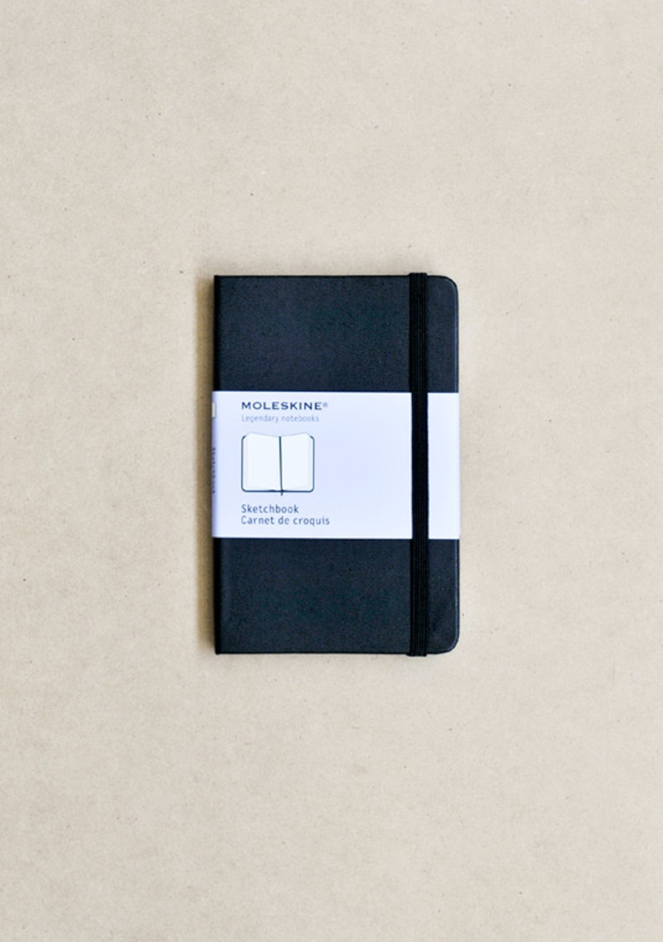 Moleskine - Classic Hard Cover Notebook - Sketchbook - Pocket - Black