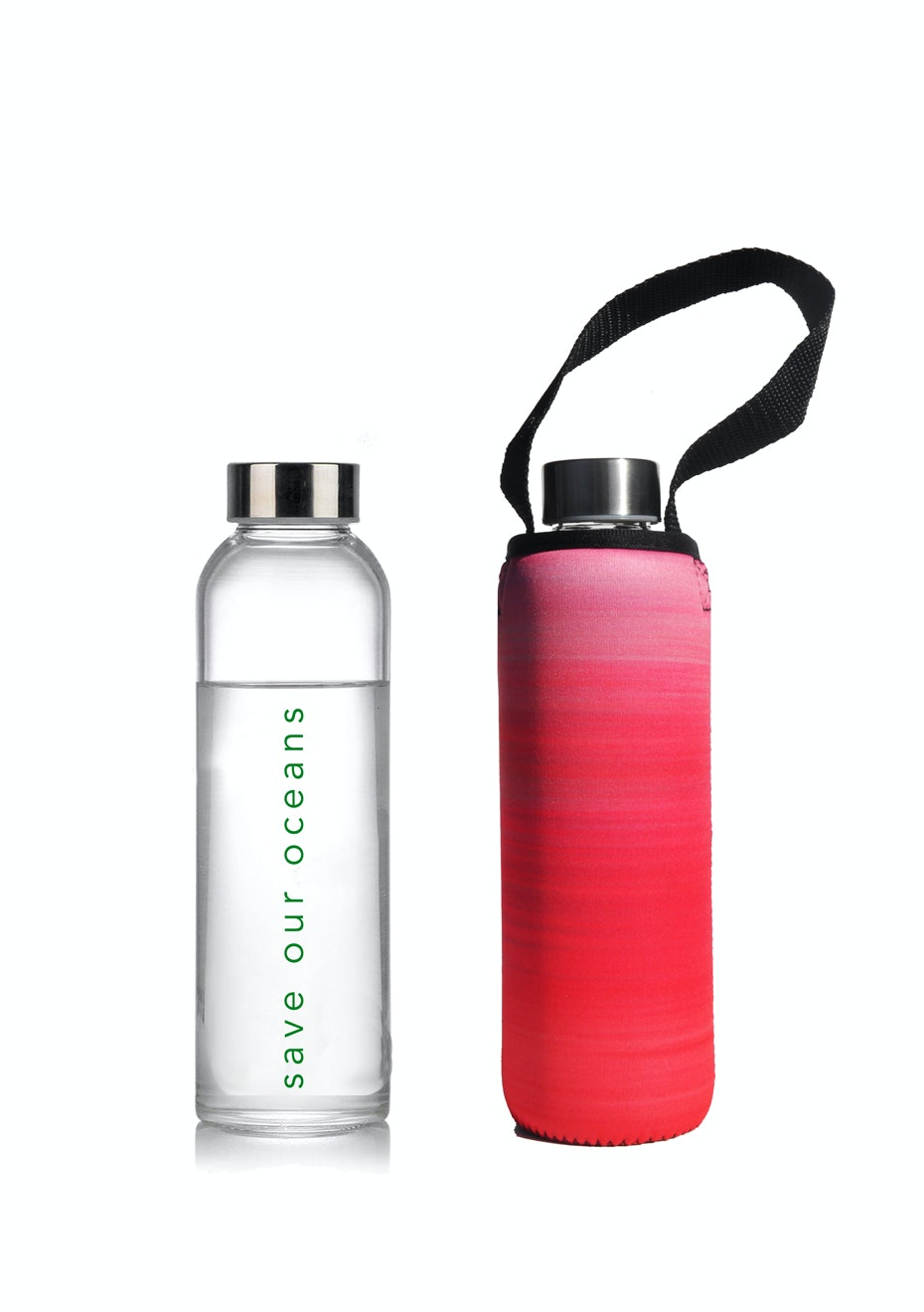 BBBYO - Glass Is Greener Bottle 570 ml + Carry Cover (Sky Print) - 570 ml