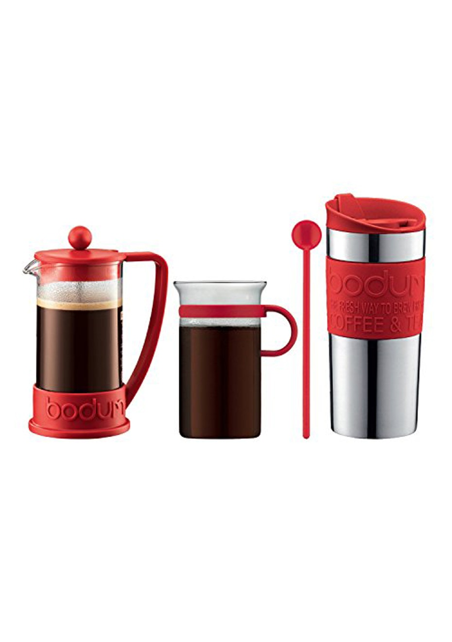 Bodum - 3 Piece Coffee Set - Red