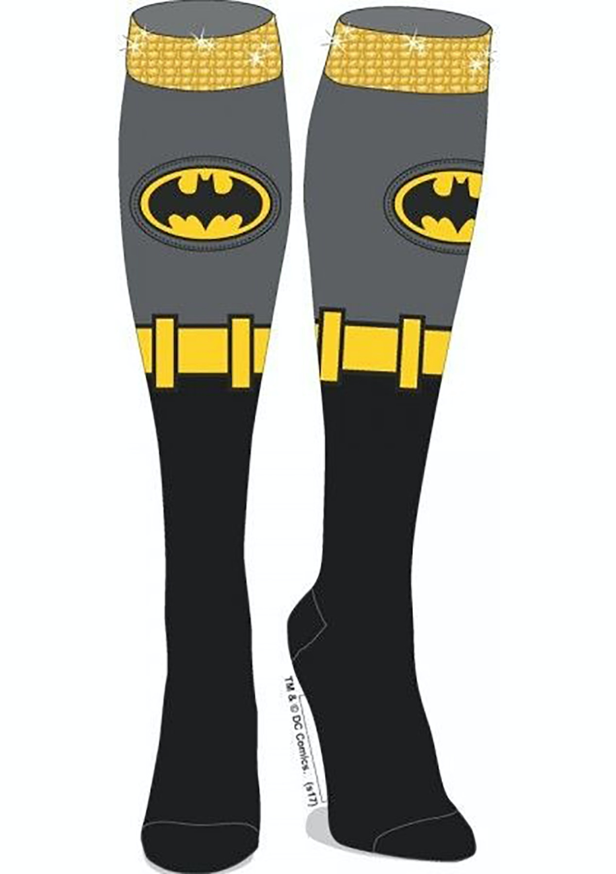 915bb1f2a DC Comics Batman Sequin Cuff Knee High Socks - 3 Months to Xmas - The Toy  Sale for Little   Big Kids - Onceit