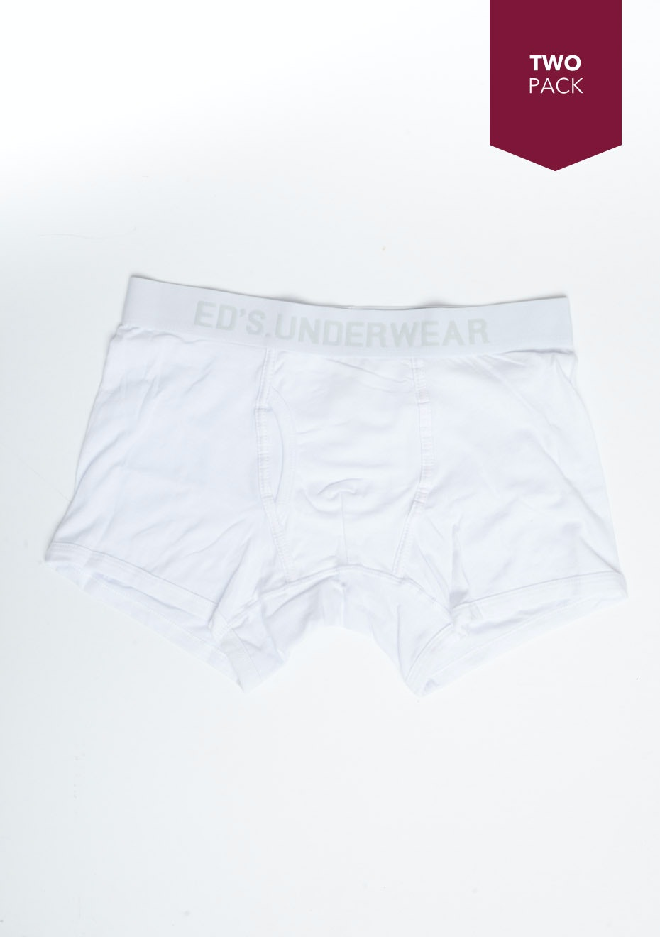 Ed's - 2 Pack Mens Trunks - White