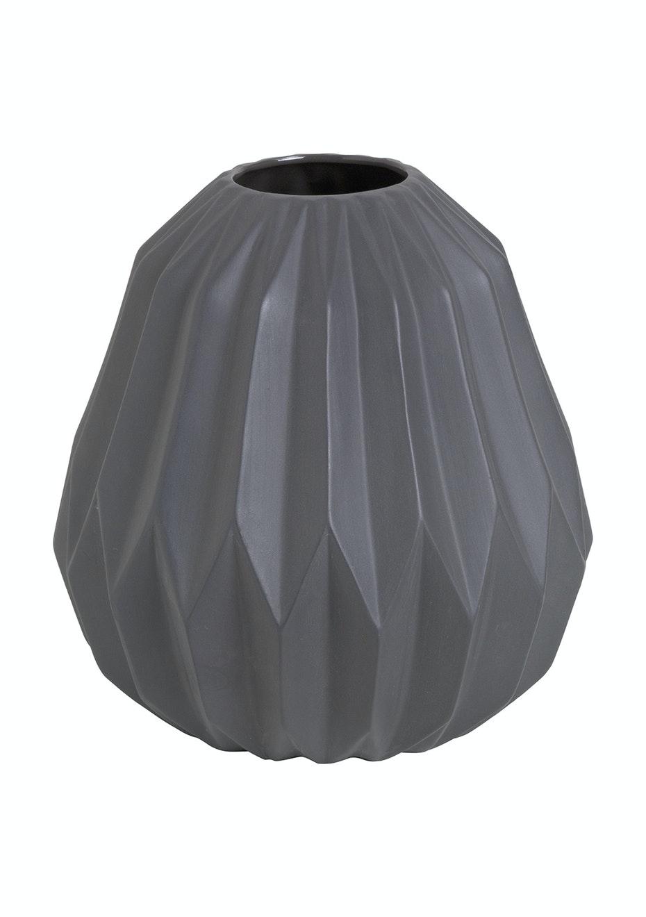 Jason - Geometric Vase - Charcoal