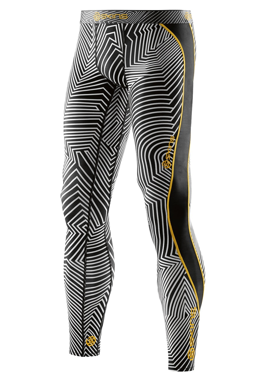 Skins Mens DNAmic  Broken Maze Long Tights - Broken Maze