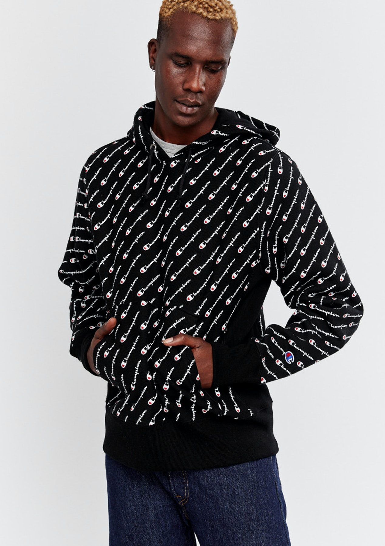 fe752973 Champion - Reverse Weave All-Over Graphic Hoodie - Our Biggest Ever Champion  Sale! - Onceit