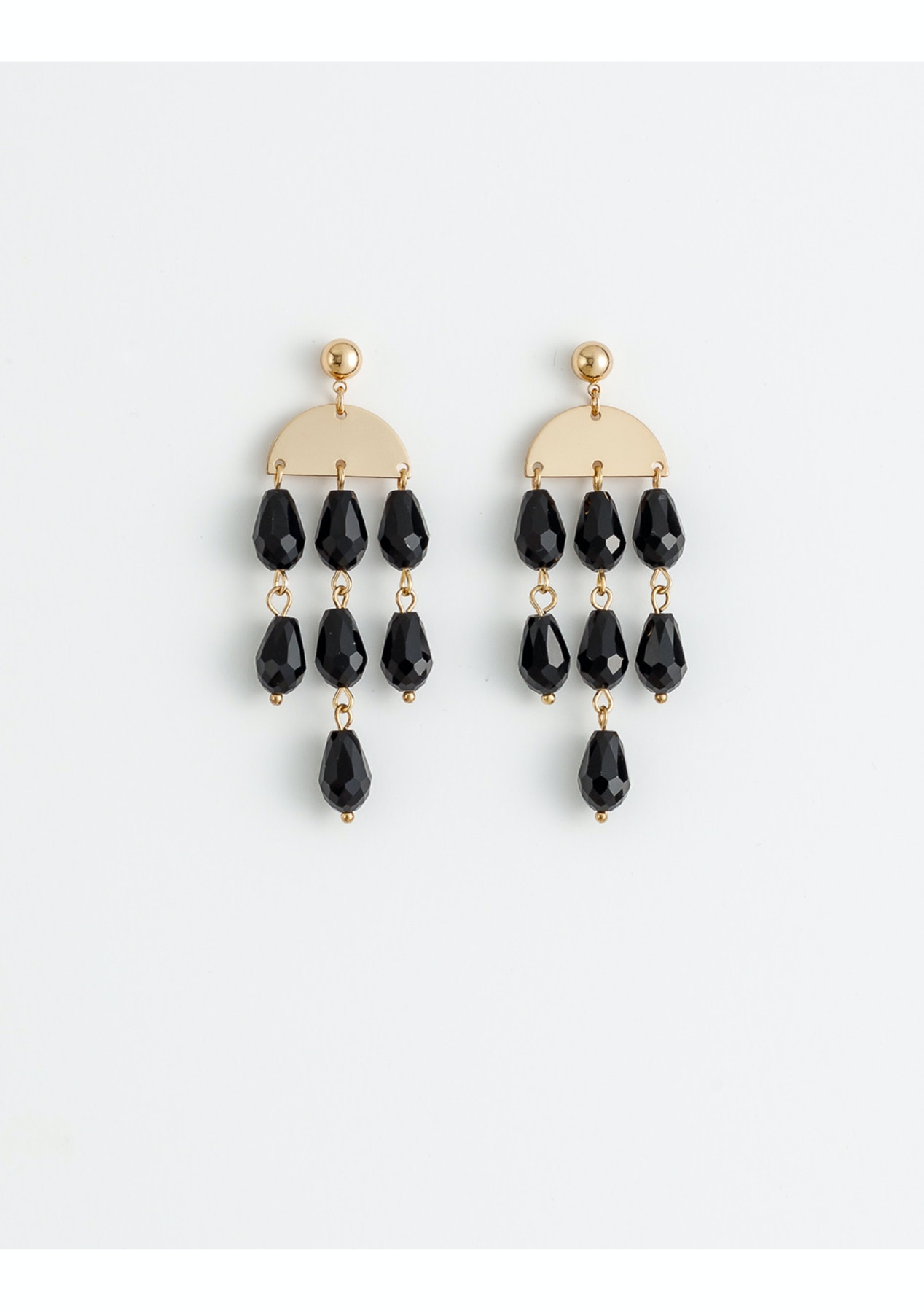 a13bd83f5dd5 Damsel by Stella + Gemma - Earrings Black Chandelier - Boxing Day Stella +  Gemma Under  20 Sale! - Onceit