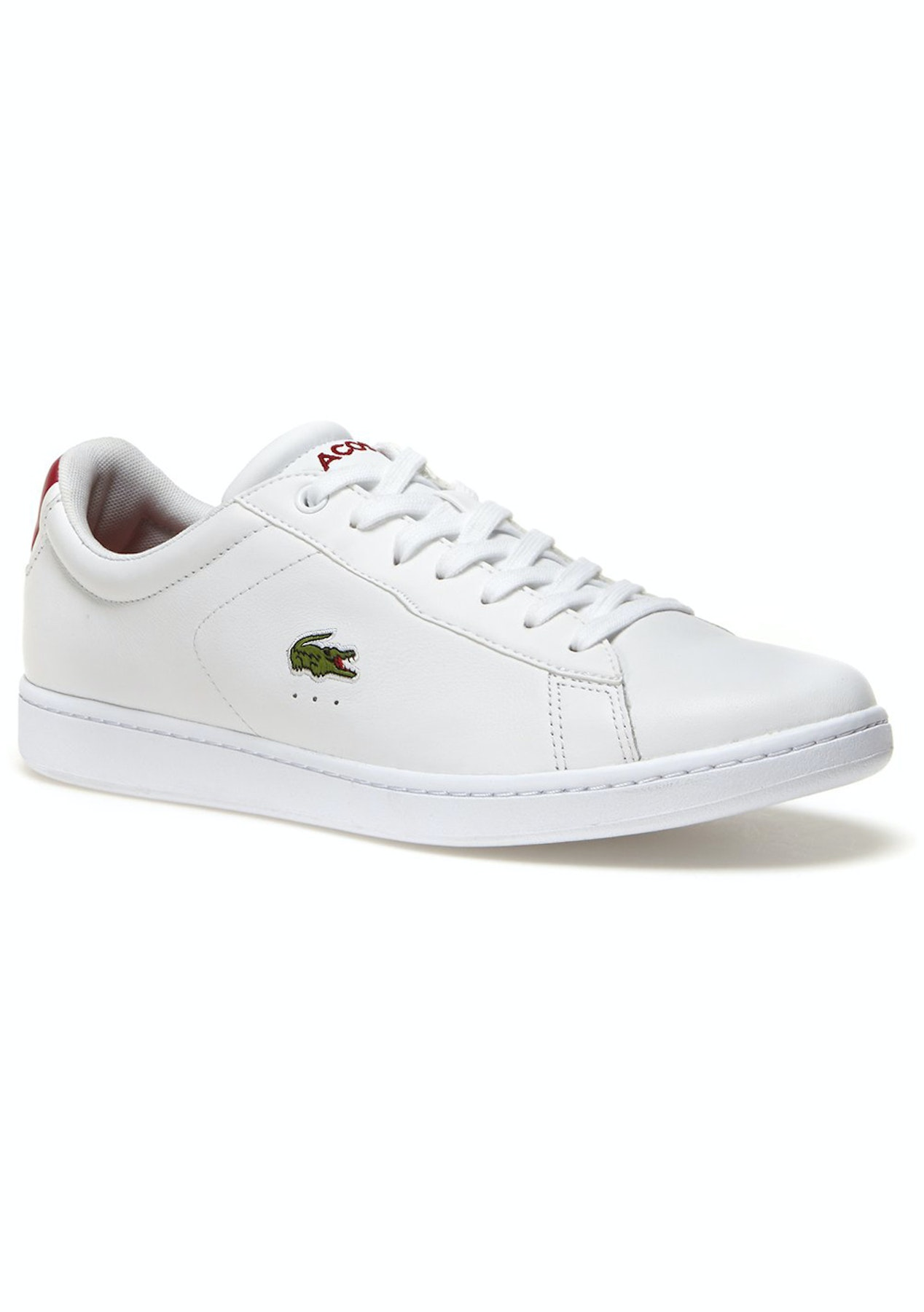 c4a592e8864b Mens Lacoste - Carnaby Evo S216 2 Spm - White Red - Mens Shoe Sale - Onceit