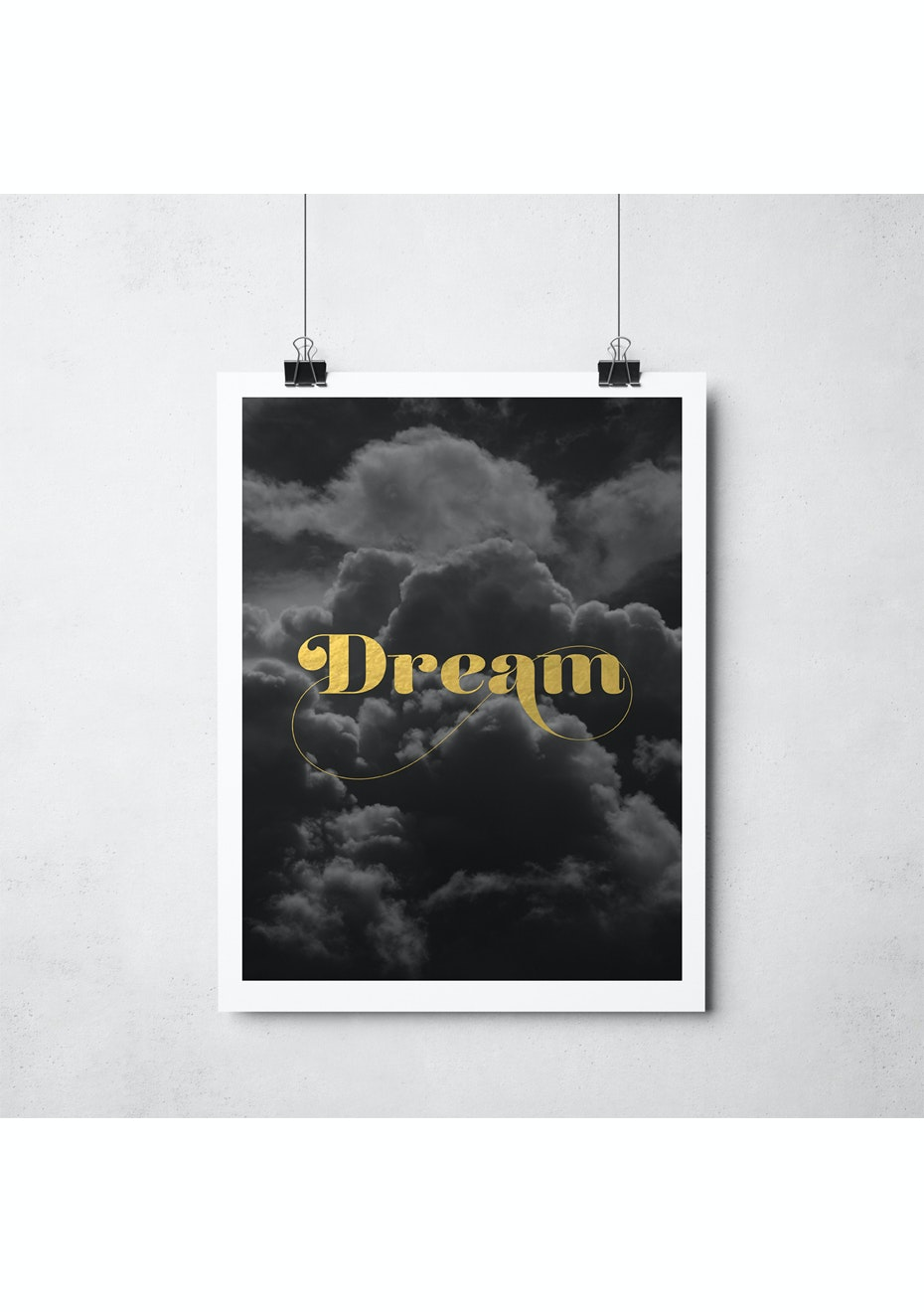 Simply Creative - Dream - A3 Gold Foil Print