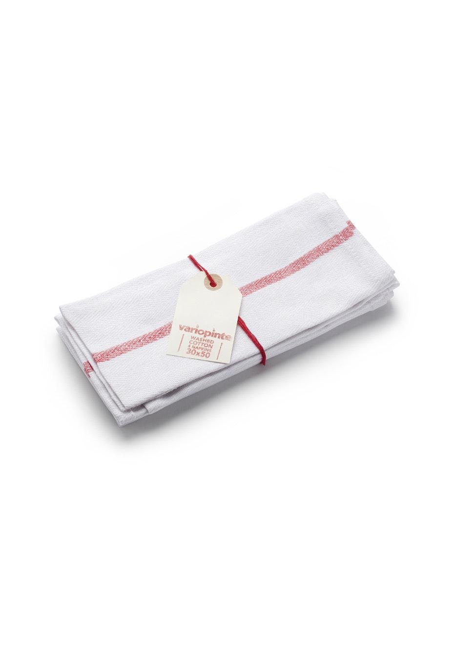 Città - Variopinte Cotton Napkin Set/4 Red Cinnabar  30x50cm