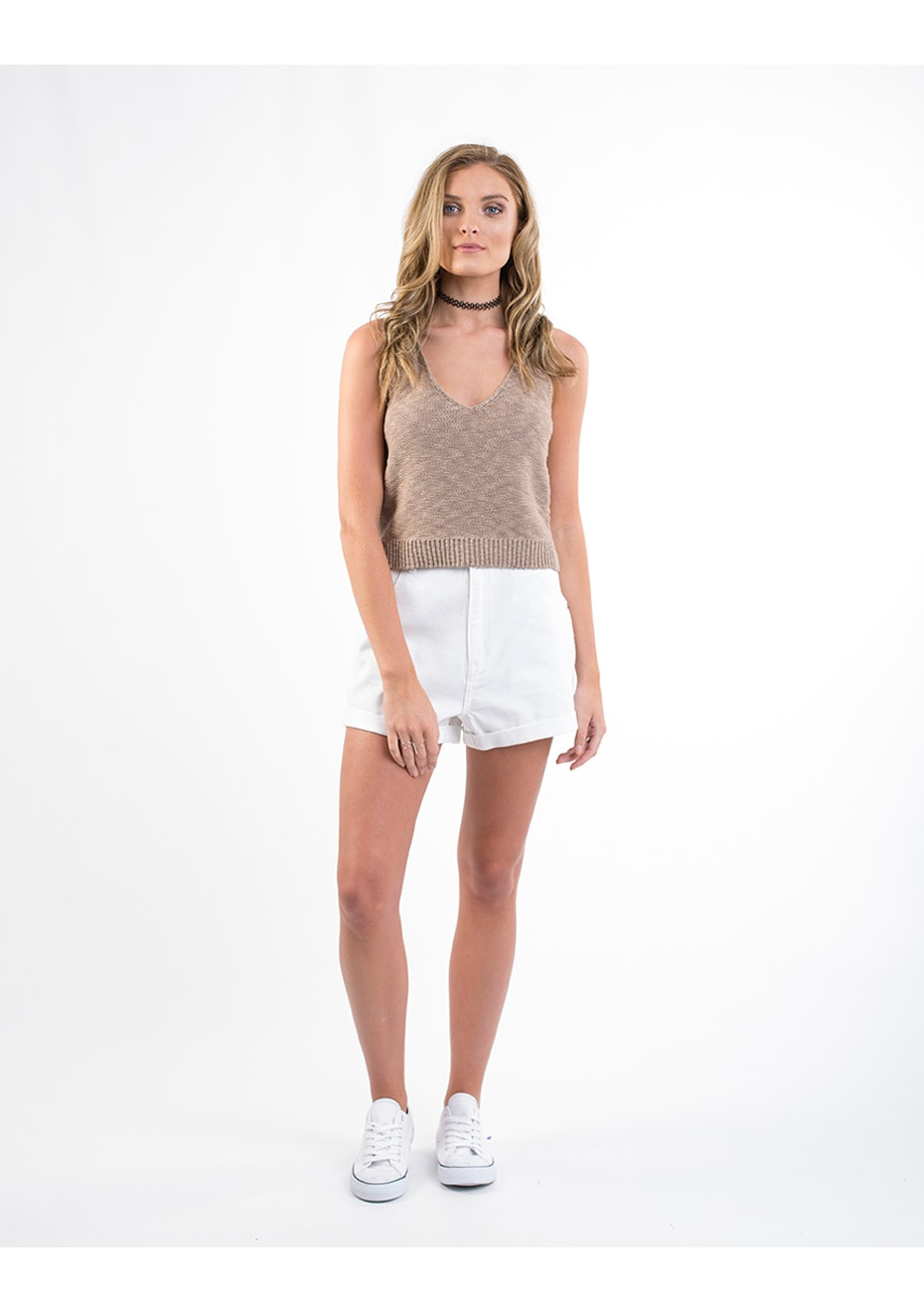 All About Eve - Ambiance Knit Tank - Tan
