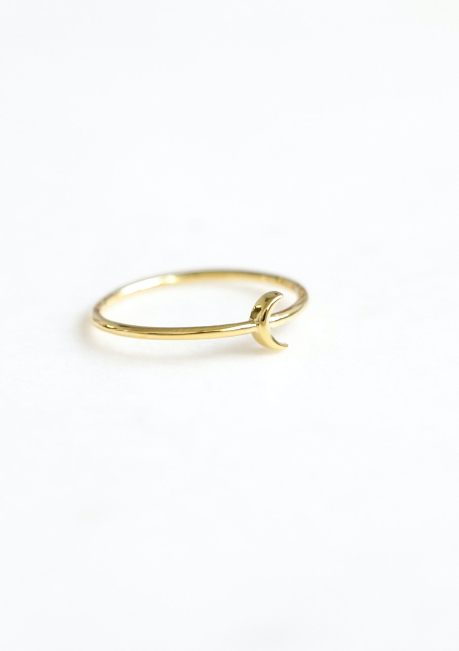 Moon Ring  - Gold Plated