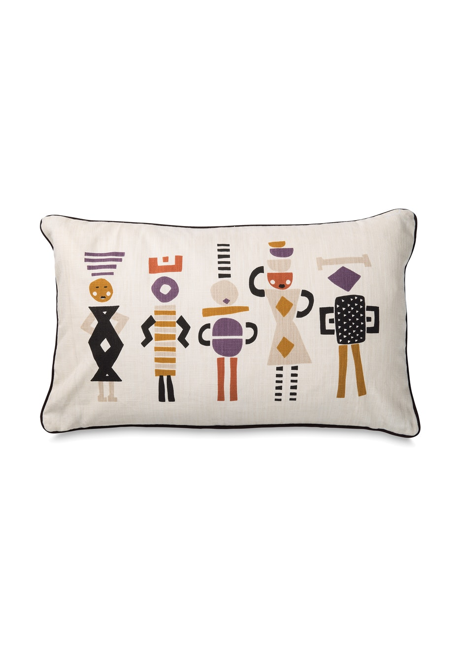 Città - Market Day Lumbar Cushion Cover w/Black Piping