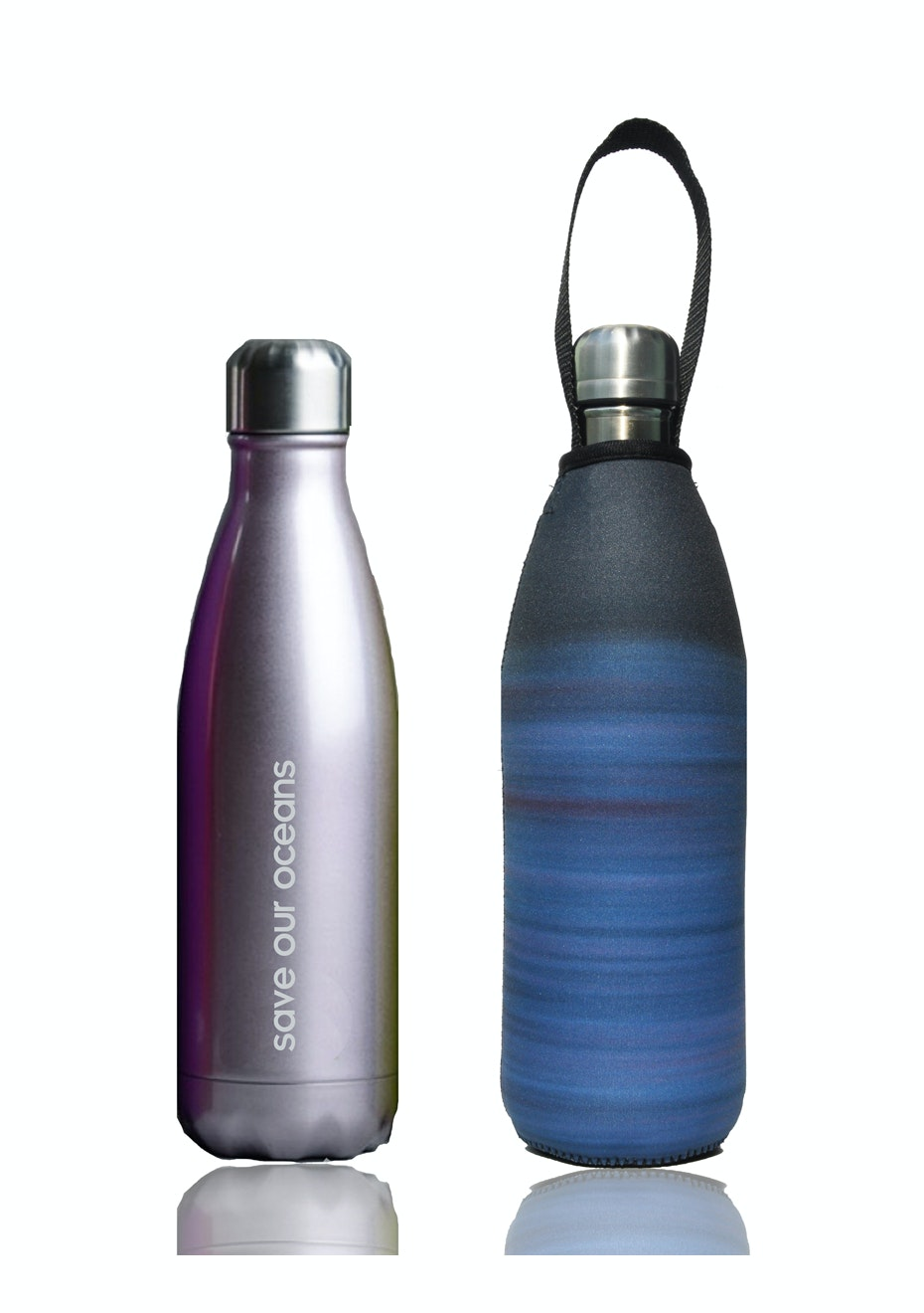 BBBYO - Future Bottle+ Carry Cover (Dream  Print)- 750 ml Titanium