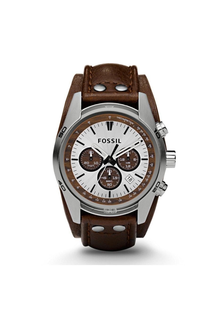 Fossil Men's Coachman - Silver/Brown