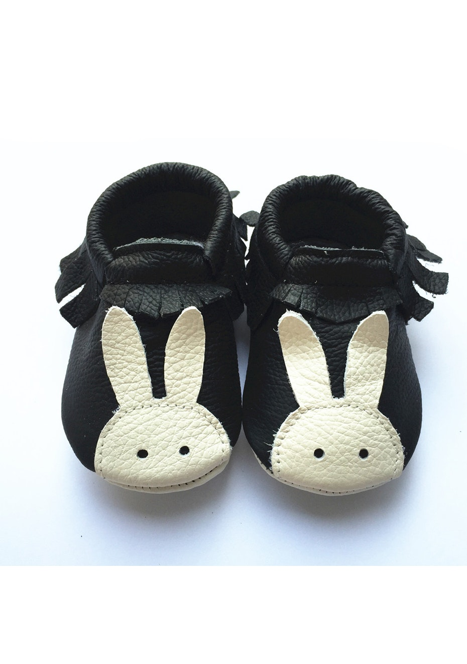 Baby  Leather Shoes - Black/Cream