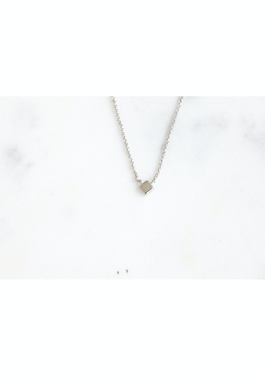 Sqaure Necklace - 925 Silver