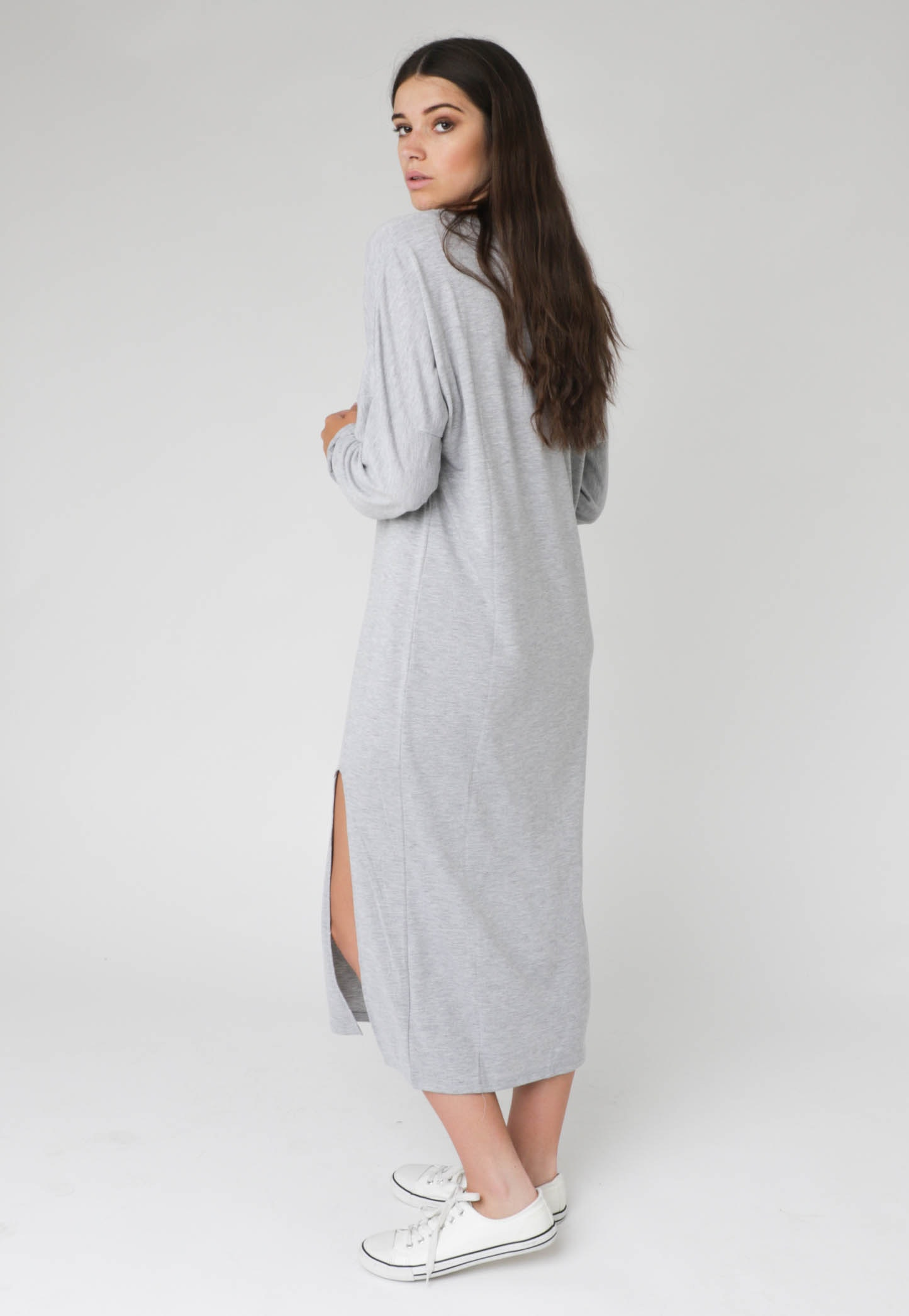 Silent Theory - Cross Your Heart Dress - Grey Marle