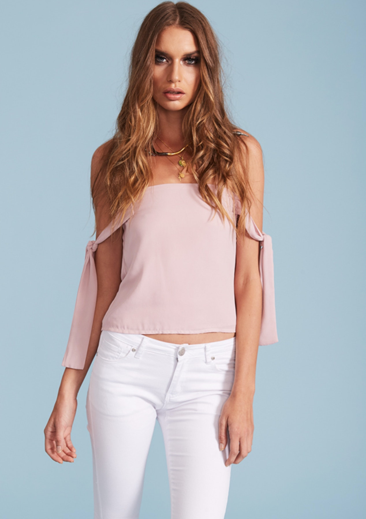 8f56996204040 Lioness - San Juan Off Shoulder Top - Blush - Best of the Month - Onceit