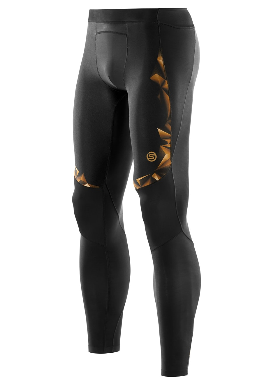 Skins - A400 Mens Gold Long Tights