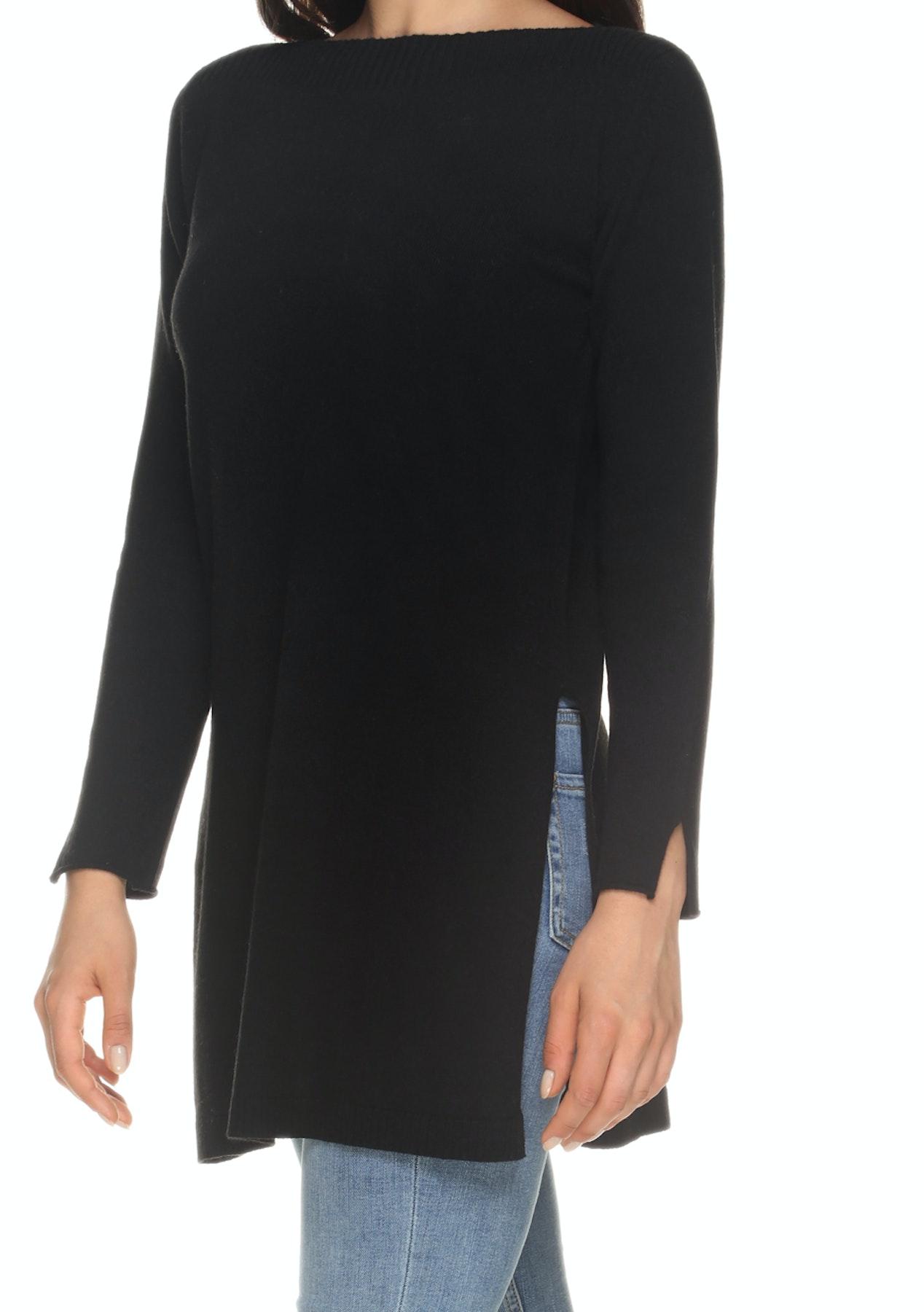 ec514e0cd04 Love Cashmere - Tunic - Black - Back by Popular Demand Cashmere/Merino  Blends Under $120 - Onceit