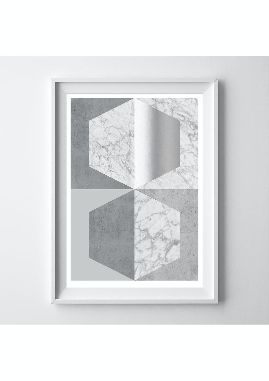 Simply Creative - Silver - A3 Silver Foil Print