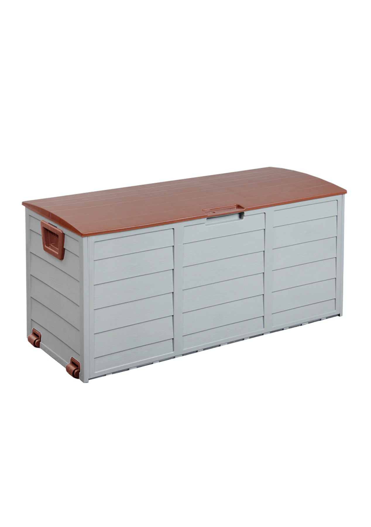 Outdoor Storage Box 290l Brown Lid New In Outdoor Furniture Onceit